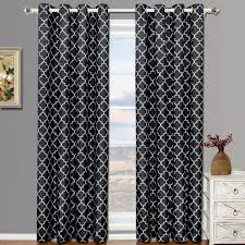 Black And Gray Curtains Meridian Thermal Grommet Room Darkening Curtains