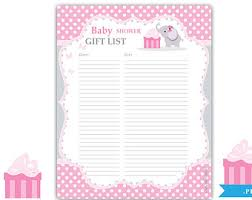 list of baby shower baby shower gift list endo re enhance dental co