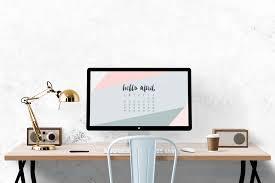 Computer Desk Wallpaper April 2016 Desktop Calendar Wallpaper Uppercase Designs