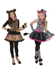 Halloween Costumes Zebra Age 8 16 Girls Teen Sassy Stripes Cat Zebra Halloween Fancy Dress