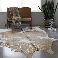 Faux Cowhide Area Rug Clayton Taupe Champagne Faux Cowhide Rug 6 U00272 X 8 U0027 Under The Dr