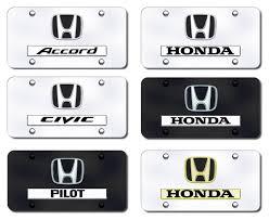 honda logo and name license plates vanity logo tags honda