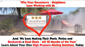 high pressure misting systems encanterra arizona and san tan