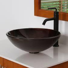 1312 elite modern design tempered glass bathroom vessel sink