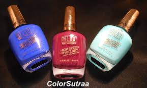 milani nail lacquer high speed fast dry swatches and review