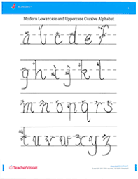 cursive letters worksheet how to write uppercase and lowercase