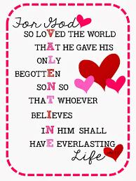 sweet blessings john 3 16 valentines