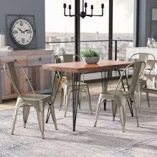 Tolix Dining Chairs Tolix Chair Gunmetal Wayfair