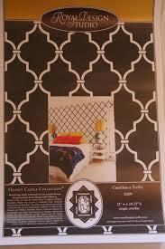 Moroccan Trellis Fabric Royal Design Studio Stenciled Curtains Knock Off Ballard Designs