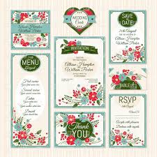 Invitation Cards Software Free Download Wedding Invitation Cards Vintage Floral Decorations Vector Image