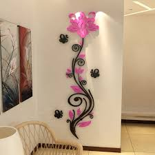 dimensional wall flower vine wall stickers 3d acrylic three