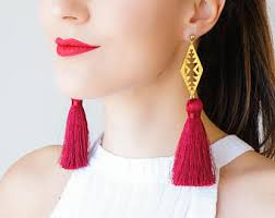 clothing gift tassel earrings christmas gift idea for her