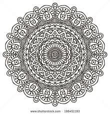 mandala ornament pattern coloring 4 mandalas