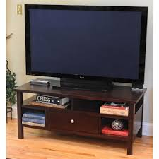 Led Tv Corner Table Flat Screen Tv Stand With Mount Walker Edison Black 60inch Wood