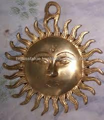 Surya Home Decor Sun Face Surya Hindu God Deity Antique Wall Hanging Home Garden
