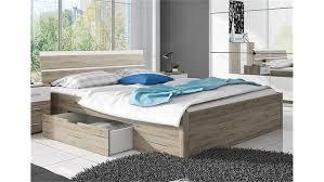 Schlafzimmer Bett 160x200 Berlin San Remo Eiche Hell Weiß Mit Bettkasten 160x200
