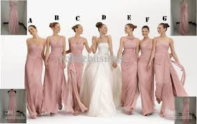 pink bridesmaid dresses new strapless pink chiffon evening dresses bridesmaid dresses