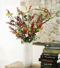 Cherry Home Decor New 88cm 6 Branches Artificial Flowers Long Artificial Berry Fake