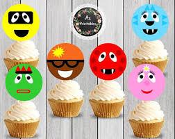 yo gabba gabba cupcake toppers etsy