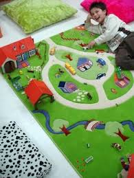 Kid Play Rugs Children S Road Rug Play Mat Car Roadway Large Matchbox