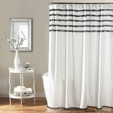 Overstock Curtains Aria Pom Pom Shower Curtain