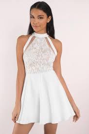 white lace dress white lace skater dress 36 tobi us