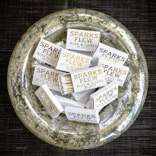matchbook wedding favors sparks flew custom wedding matches personalized sparkler