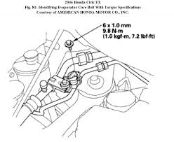 evaporator core in a 2006 honda civic how do you replace the
