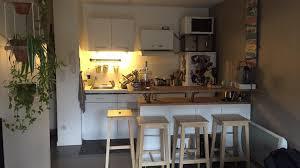 table de cuisine sur mesure ikea attrayant cuisine avec ilot table 1 table de bar avec kallax