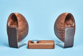 grovemade u0027s wooden speaker set looks like beautiful cybernetic
