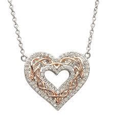 heart pendant swarovski necklace images Pendants necklaces sterling silver rose gold celtic heart jpg