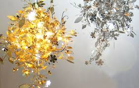 Flower Pendant Light Stainless Steel Flower Hanging L Metal Chandelier Pendant