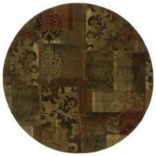Allen Roth Area Rug Allen Roth Tinsley Red Round Indoor Woven Nature Area Rug