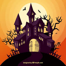 enchated halloween house vector free download