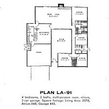 eichler floor plans eichler house plans large atrium style design home designs modern