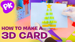 how to make a 3d holiday greeting card easy crafts for kids diy