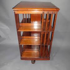 Oak Revolving Bookcase Vintage Swivel Bookcase Thesecretconsul Com