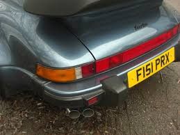 80s porsche 911 turbo teacher brings classic porsche 911 turbo in for exhaust system