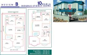 3d Home Design 7 Marla Marla 10 Marla House Plan Layout Map 3d Front Elevation Lahore