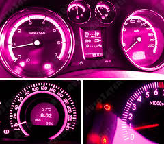 4 pcs fashion pink t10 wedge 9smd dashboard instrument panel light