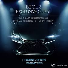 lexus nx turbo paultan lexus nx to be launched on jan 29 you u0027re invited