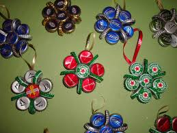 bottle cap christmas ornaments the yule log 365
