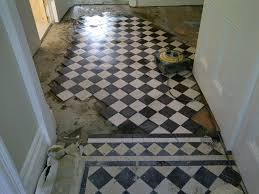 rebuilt victorian tiled hallway cleaned and sealed in bromley