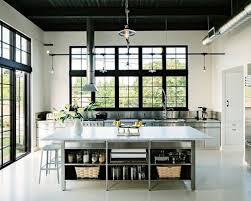 Open Cabinets Top 20 Industrial Kitchen With Open Cabinets Ideas Houzz