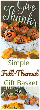 themed basket simple fall themed gift basket for a basket social