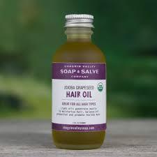 light oils for hair organic hair oil jojoba grapeseed chagrin valley soap