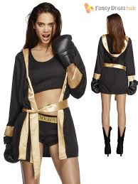 rocky balboa halloween costume kids black fever boxer female knockout fancy dress costume 31126