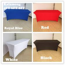 What Size Tablecloth For 6ft Rectangular Table by Aliexpress Com Buy 5pcs 4ft 6ft Rectangular Spandex Table Cover