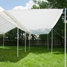 shelterlogic 20 x 10 ft all purpose canopy with extension hayneedle