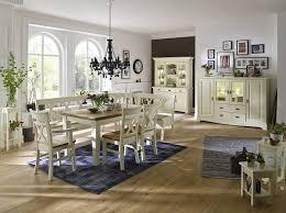 Esszimmer Massivholz Esszimmer 7 Teilig Nordic Home Paris Kiefer Massiv Weiß